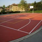 pavimento campo palla canestro aperto